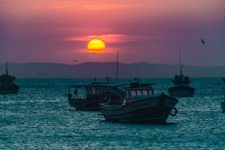 buzios at sunset