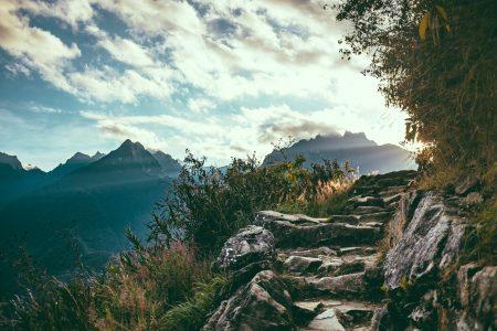 sunlight on inca trail