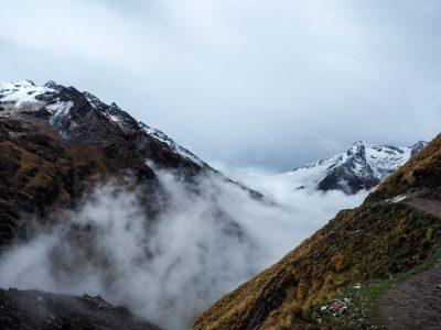 salkantay trek in the clouds