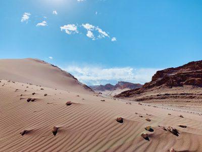 moon valley atacama desert daytime
